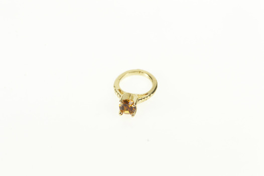 14K Miniature Sim. Citrine Inset Tiny Cute Ring Yellow Gold Charm/Pendant