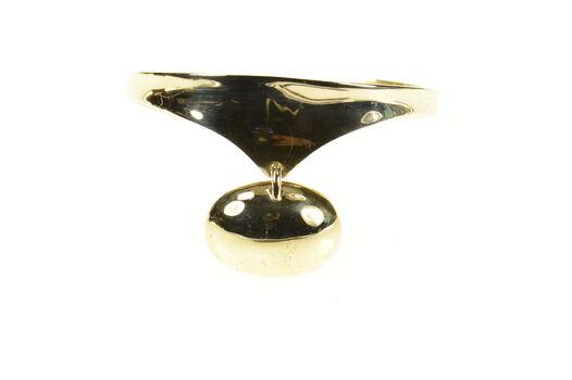 """14K Ole Lynggaard Designer Oval Drop Cuff Yellow Gold Bracelet 6.75"""""""