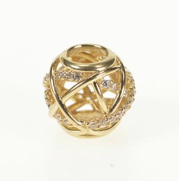 14K Pandora Galaxy Cubic Zirconia Designer Yellow Gold Charm/Pendant