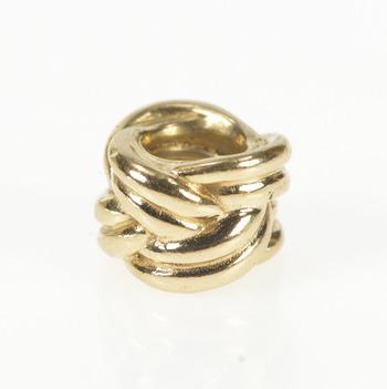 14K Pandora Knot Braid Designer Twist Retired Yellow Gold Charm/Pendant