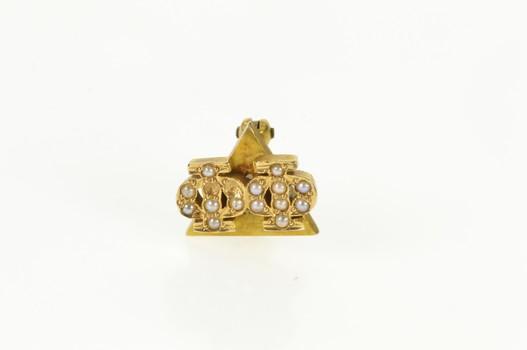 14K Phi Delta Phi Pearl Law Honor Society Lapel Yellow Gold Pin/Brooch