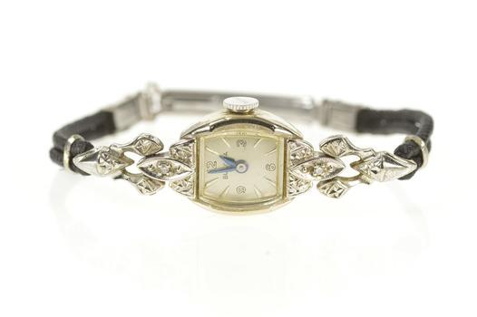Art Deco Bulova Diamond Inset Ornate Ladies Watch - Women's