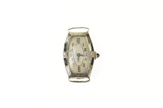 Art Deco Sleda Watch Co Diamond Sapphire Watch - Women's