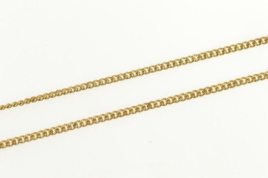 Gold Filled 1.4mm Classic Curb Chain Simple Link Necklace 18""