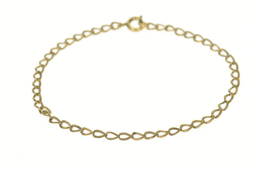"""Gold Filled 3.5mm Retro Textured Curb Link Chain Bracelet 8"""""""