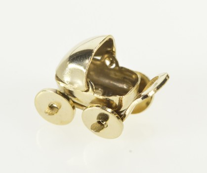 Gold Filled 3D Articulated Baby Carriage Pram Stroller Charm/Pendant