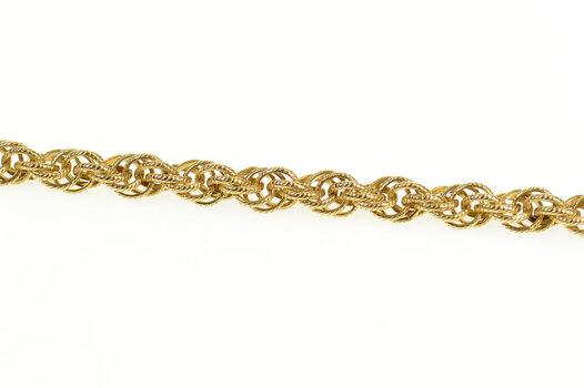 """Gold Filled 5.1mm Retro Fancy Rope Twist Link Chain Bracelet 7"""""""