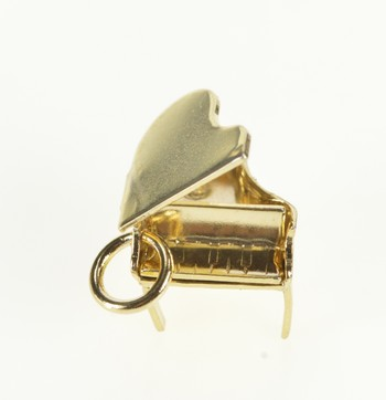 Gold Filled Articulated 3D Piano Musical Instrument Charm/Pendant