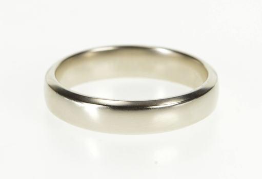 Platinum 5.1mm Men's Classic Comfort Fit Wedding Band Ring, Size 11.25