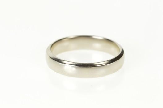 Platinum 5.1mm Men's Simple Classic Wedding Band Ring, Size 11.25