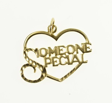 Starts @ Cost - 14K Someone Special Heart Cut Out Yellow Gold Charm/Pendant