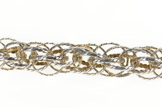 "Sterling Silver 14.6mm Wide Twist Rope Statement Chain Bracelet 8.5"""
