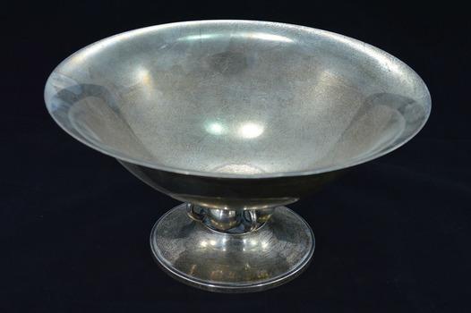 Sterling Silver Georg Jensen USA Mid Century Modern Serving Bowl Fine Silver