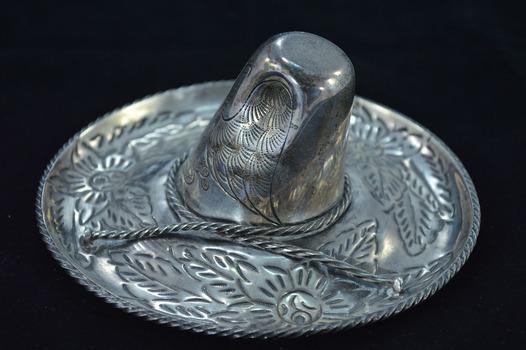 Sterling Silver Maciel Detailed Mexican Sombrero Hat Fine Silver