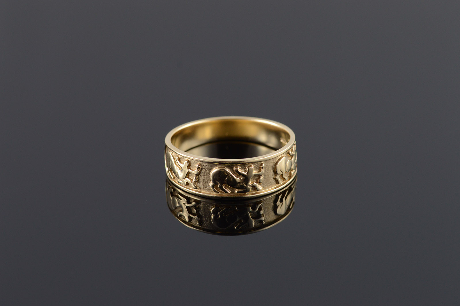 Image 1 Of 4: Gold And Silver Embossed Wedding Bands At Reisefeber.org