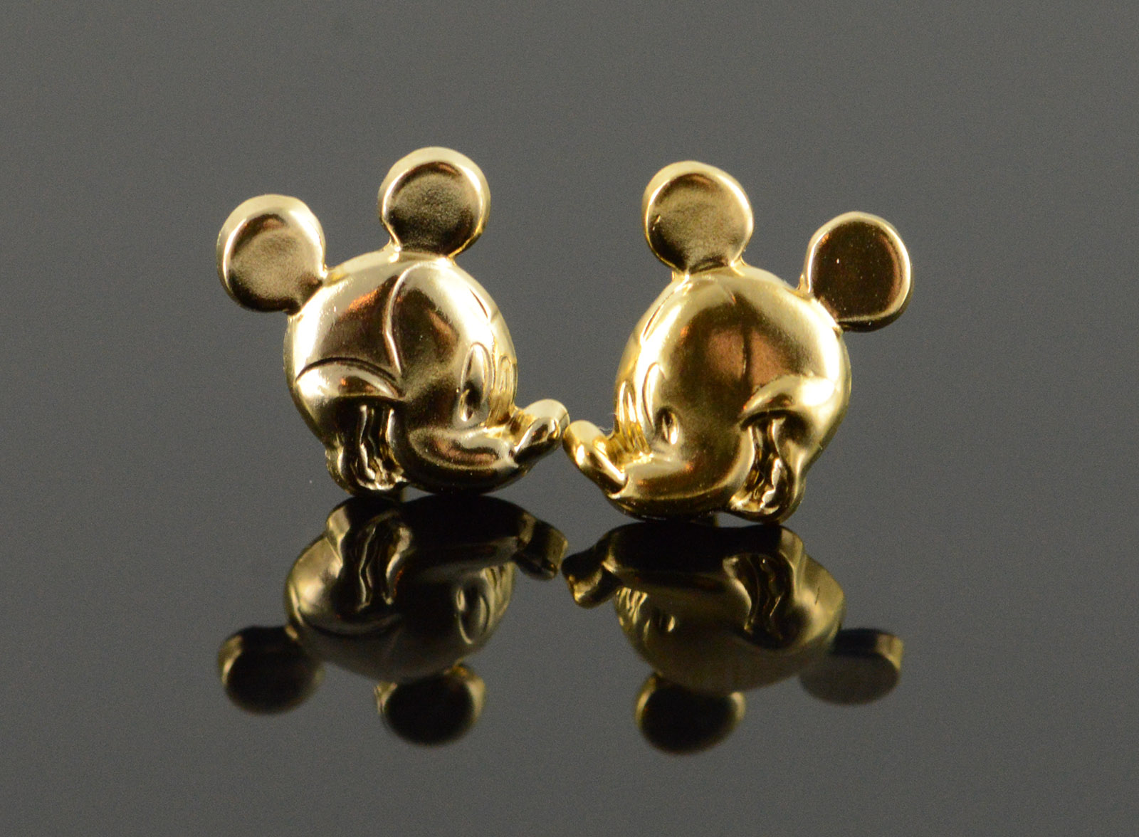 14k 0 4g Official Disney Mickey Mouse Stud Yellow Gold Earrings