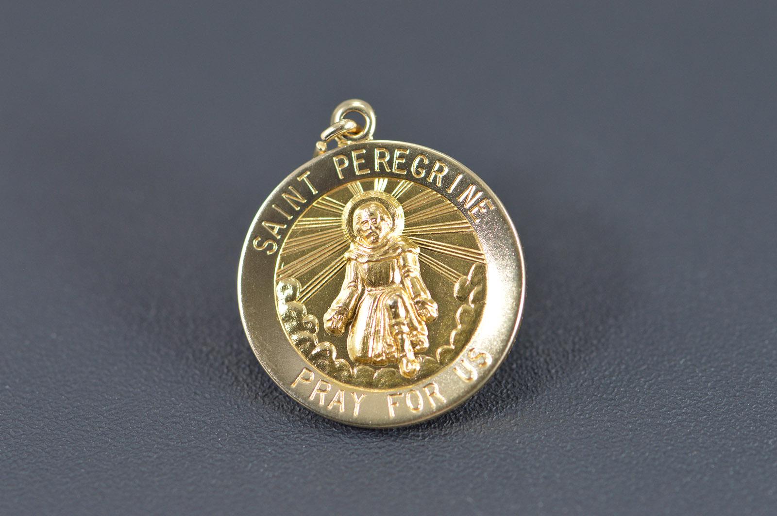 14k 25g saint peregrine pray for us religious yellow gold charm 14k 25g saint peregrine pray for us religious yellow gold charmpendant mozeypictures Gallery