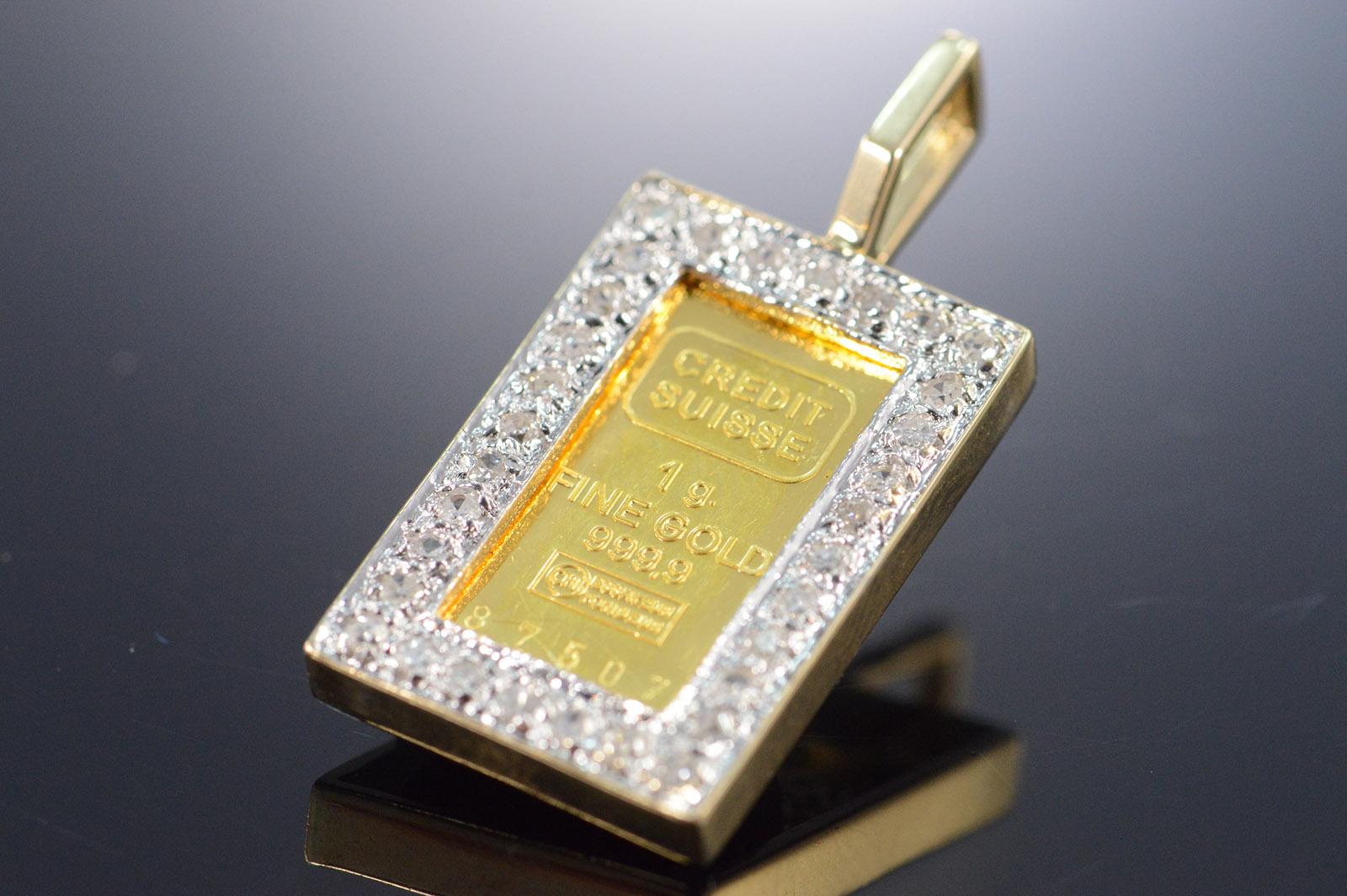 14k 33g 025 ctw diamond bezel 1 gram 999 gold bar yellow gold image 1 of 4 free shipping aloadofball Images