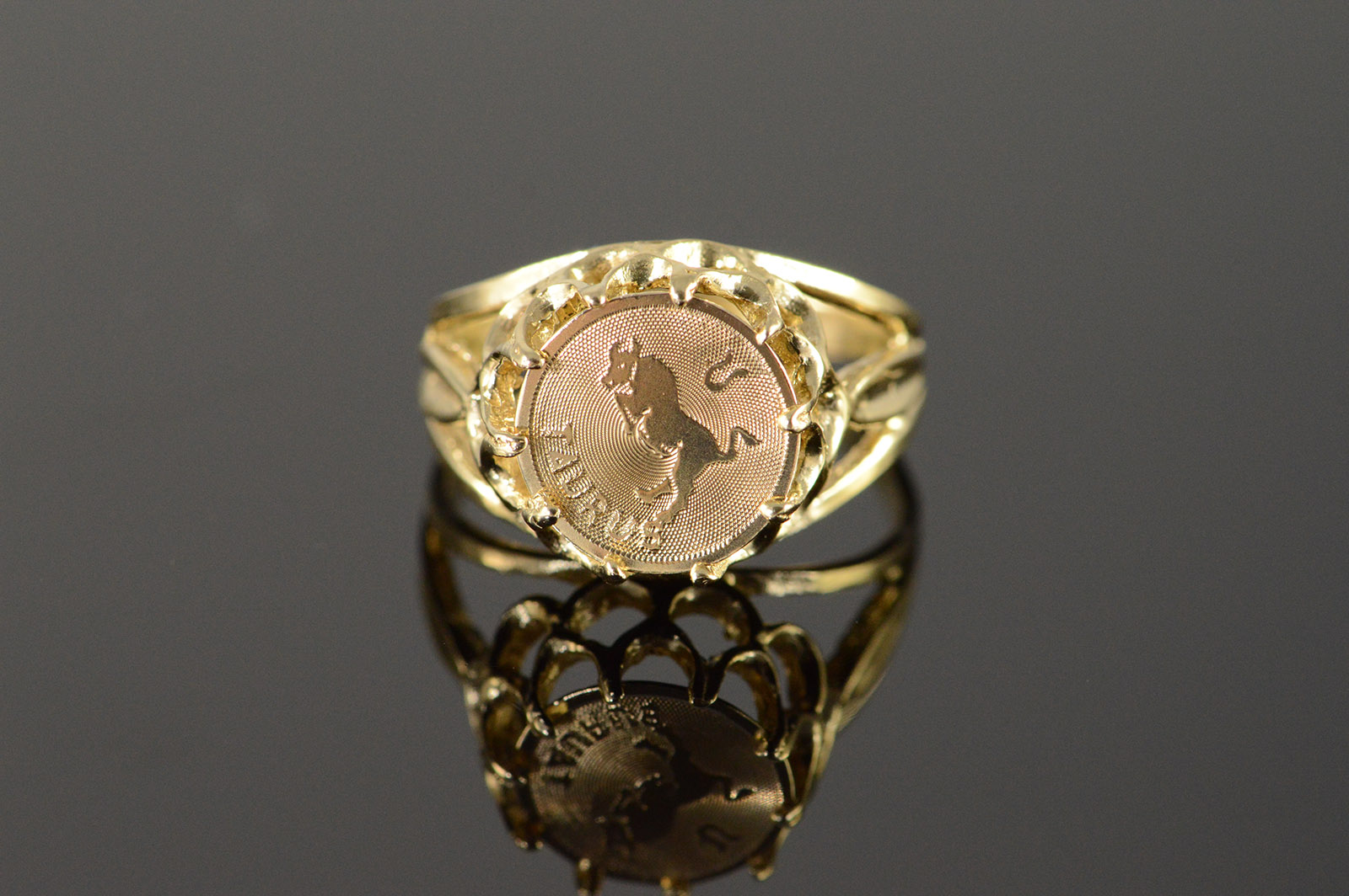 14k 3 5g Taurus Bull Astrological Medallion Yellow Gold