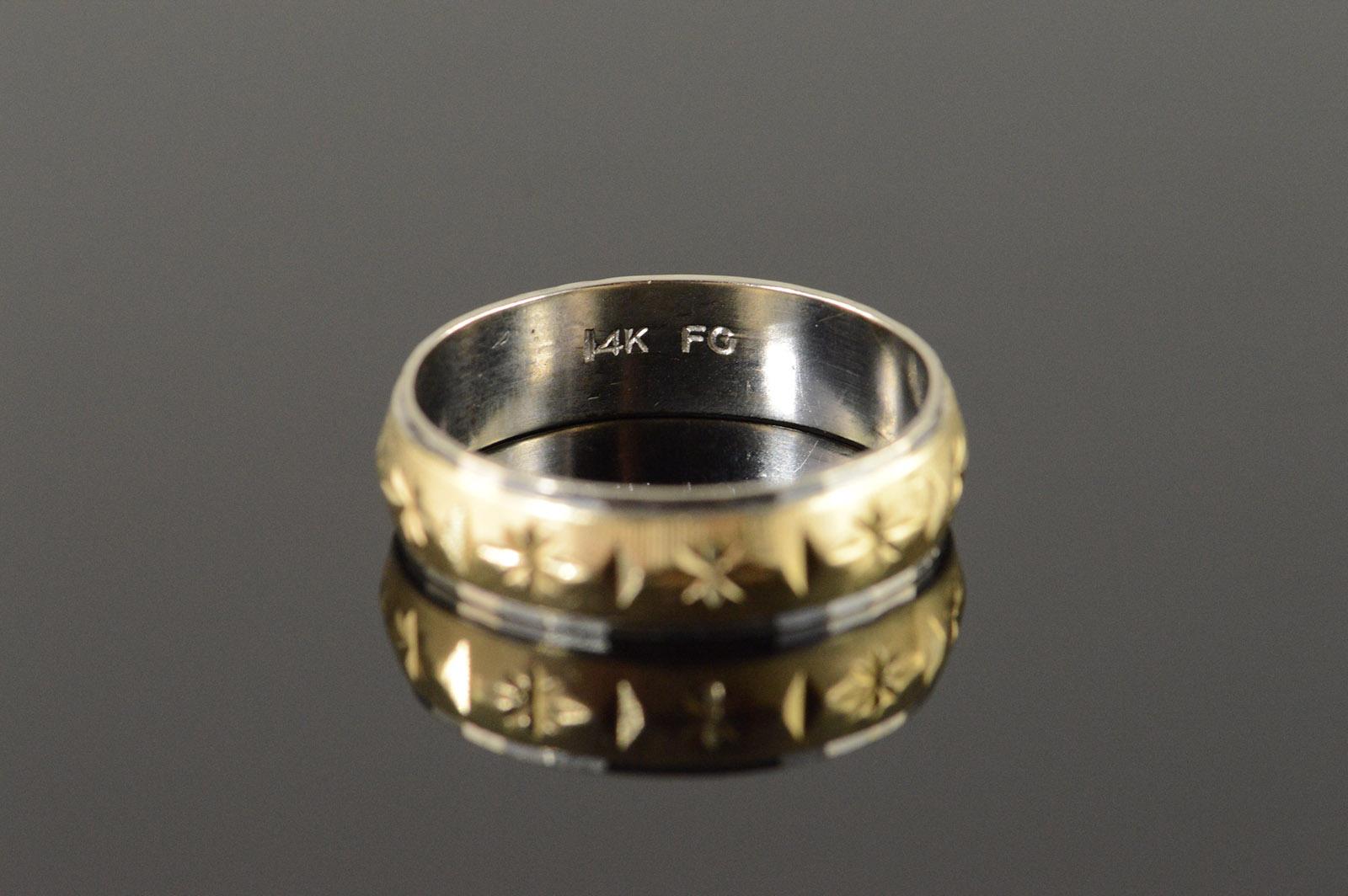 Men Yellow Gold Wedding Rings Band K