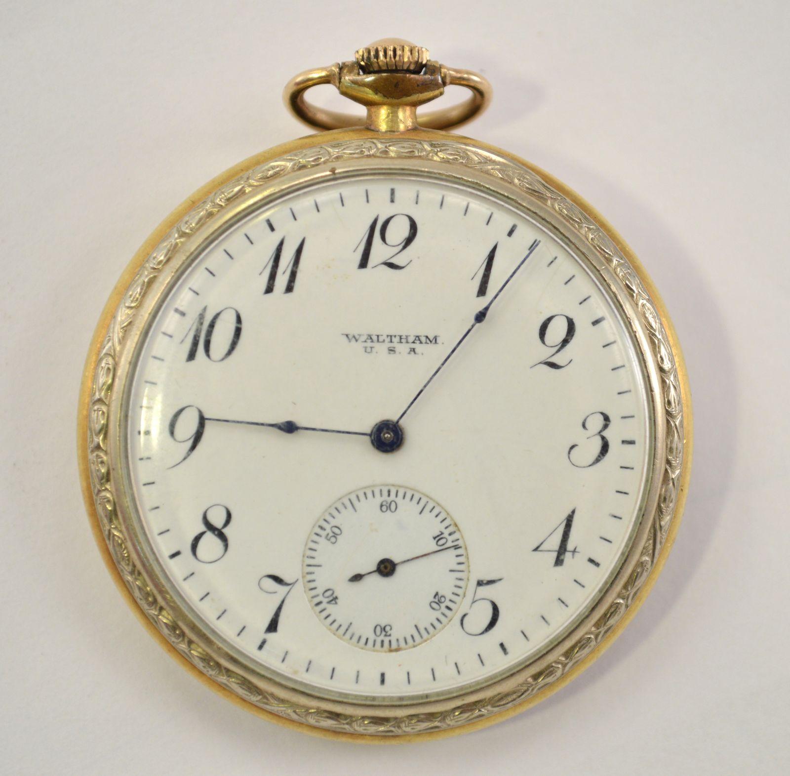 1917 Waltham Pocket Watch, 12 Size, 15 Jewel   Property Room