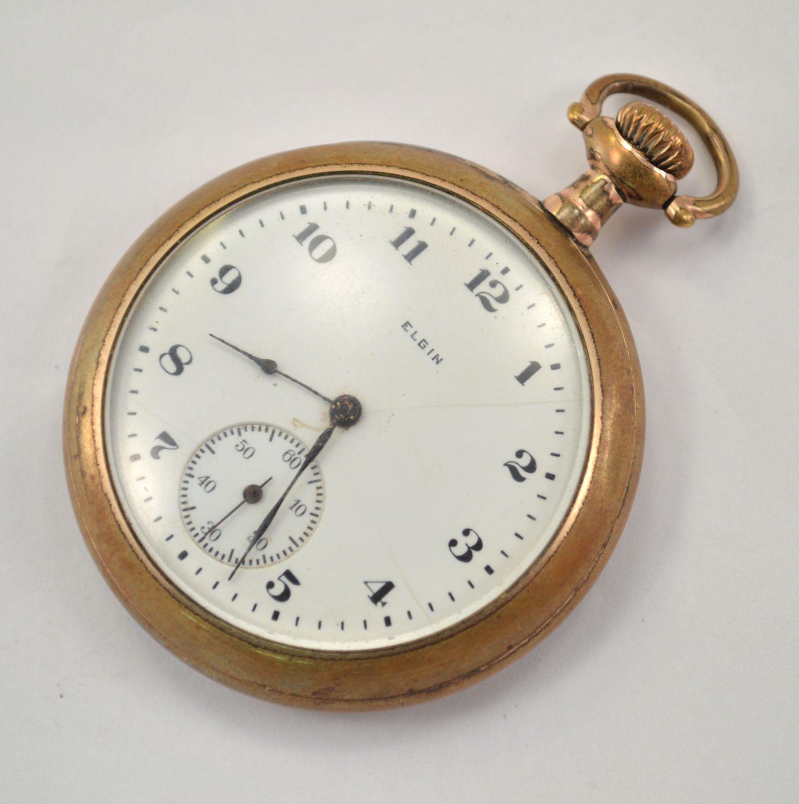1921 Elgin Pocket Watch 16 Size 7 Jewel Property Room
