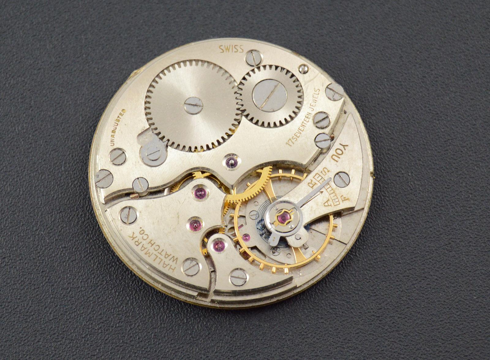 25g Vintage Hallmark Watch Co 38 6 Mm Face Pocket Watch