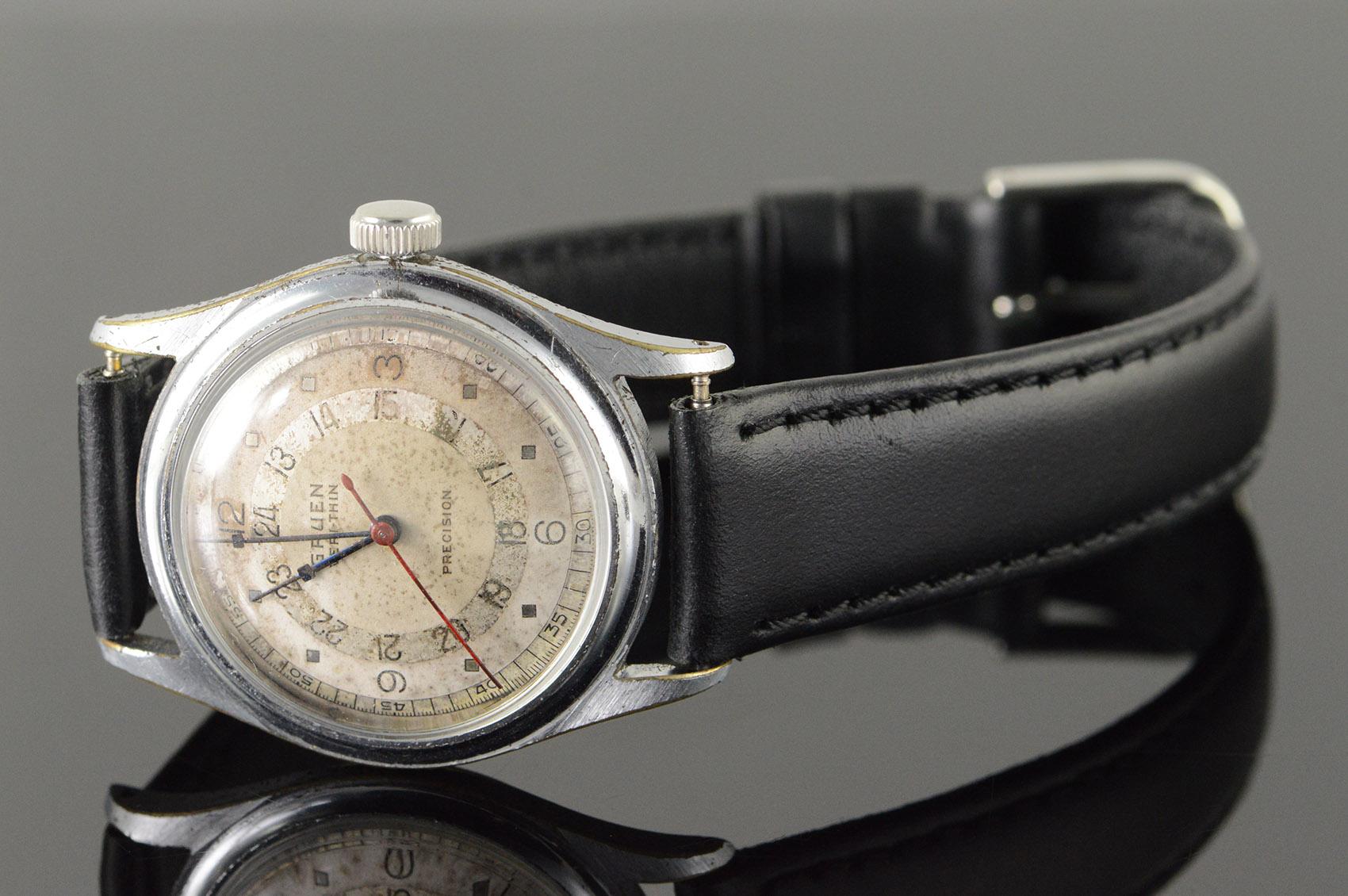 26mm Gruen Veri Thin Precision Wrist Watch Men S
