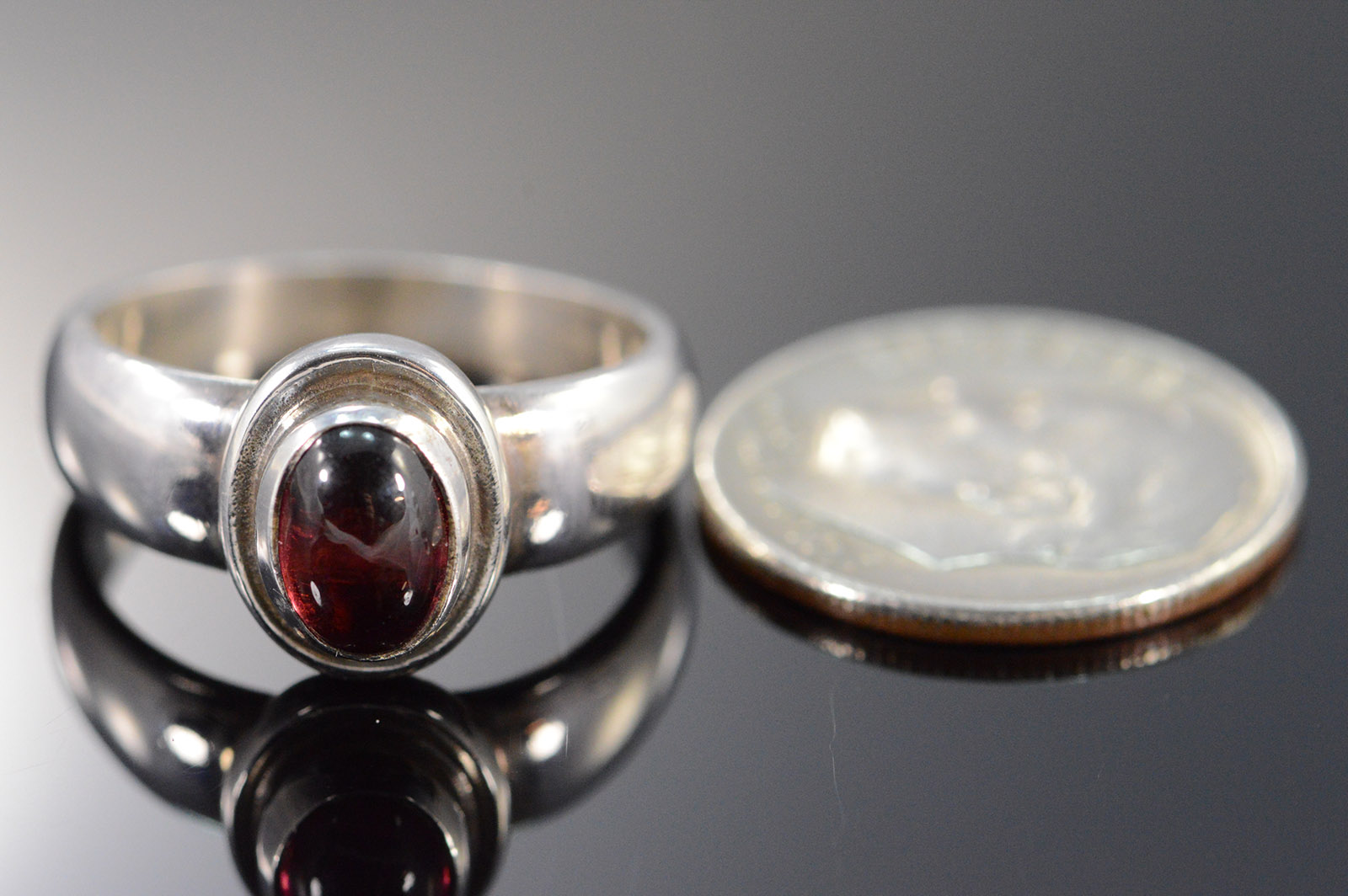 sterling silver georg jensen cabochon rhodolite. Black Bedroom Furniture Sets. Home Design Ideas