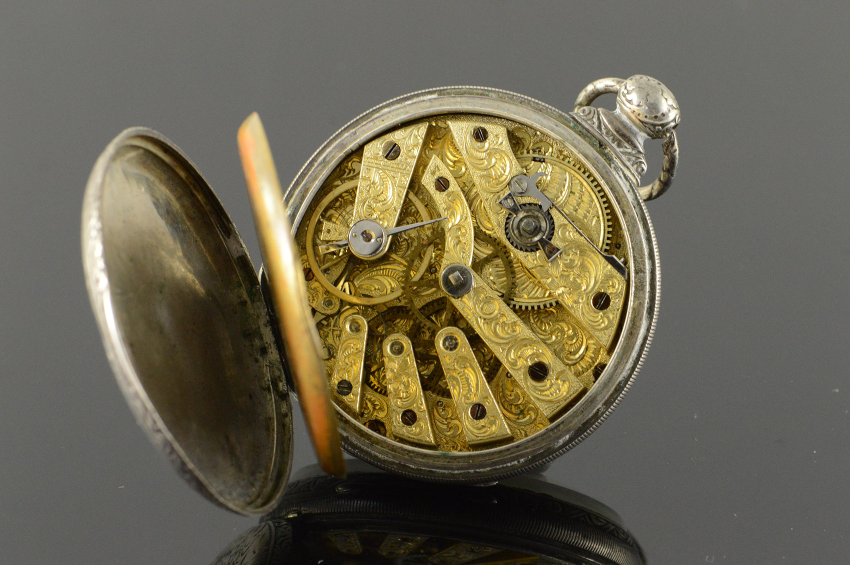 Antique 50mm T F Cooper London13 Jewel Fancy Dial Key Wind