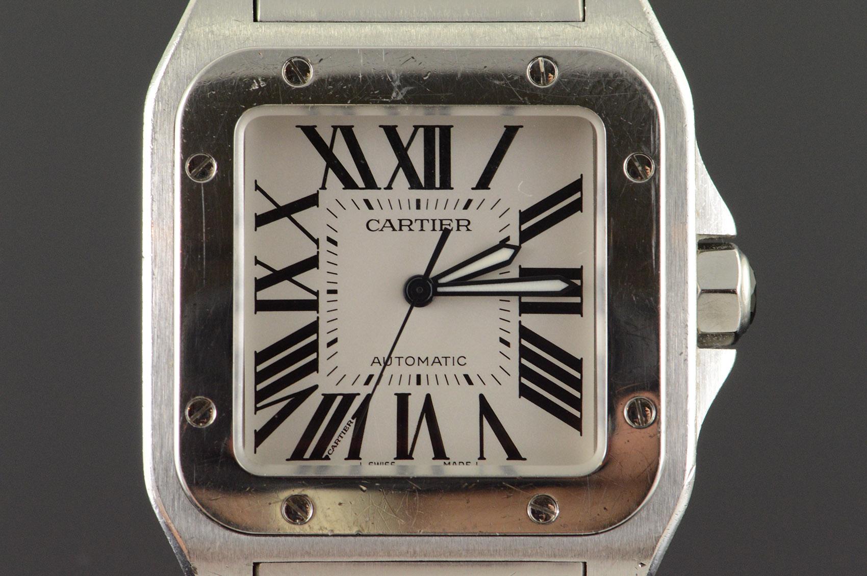 134e5d811a2de Cartier Santos 100 XL Automatic 38mm Case Stainless Bracelet Watch ...
