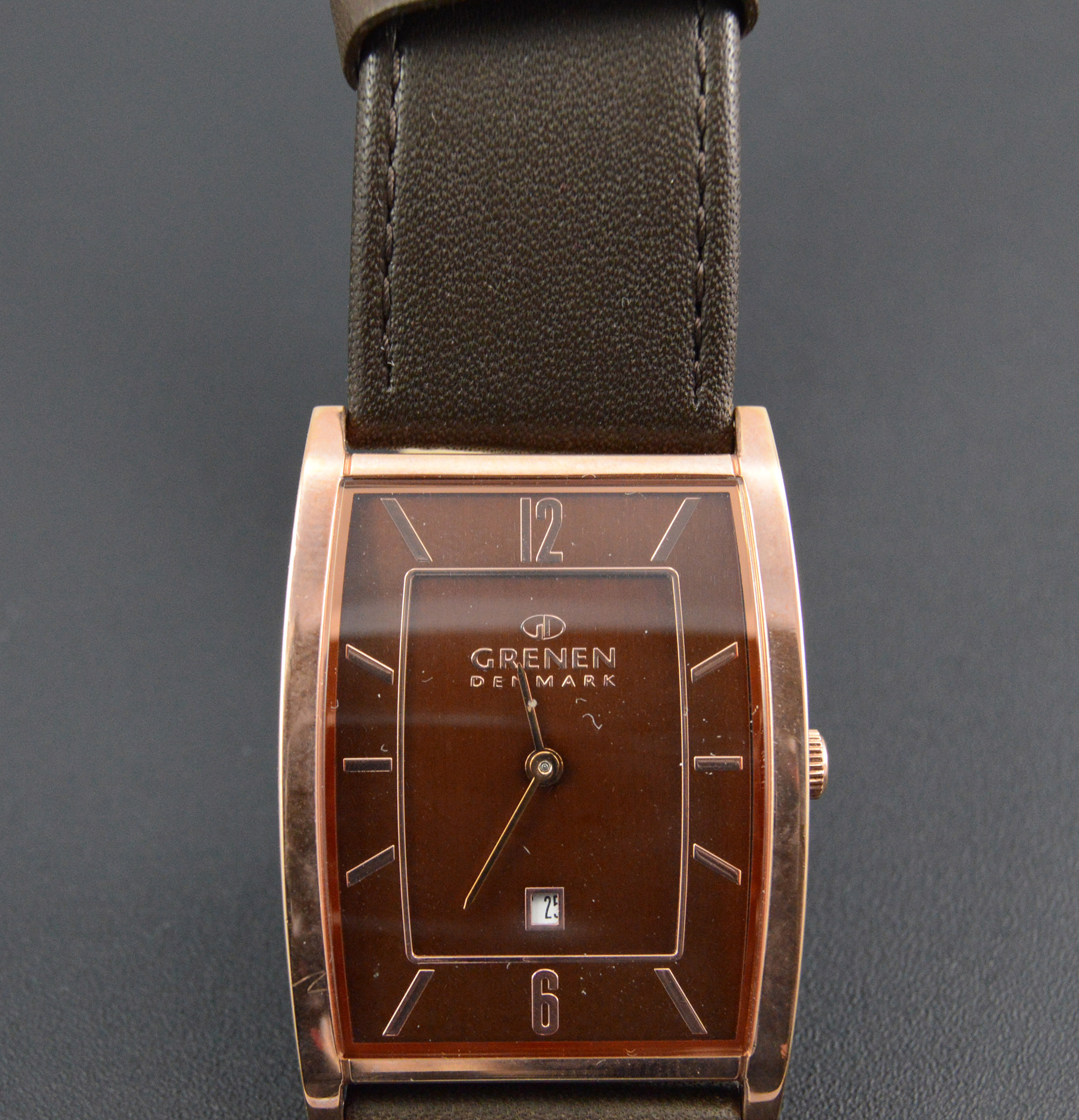 Citizen Rose Gold Plated Stainless Leather Rounded