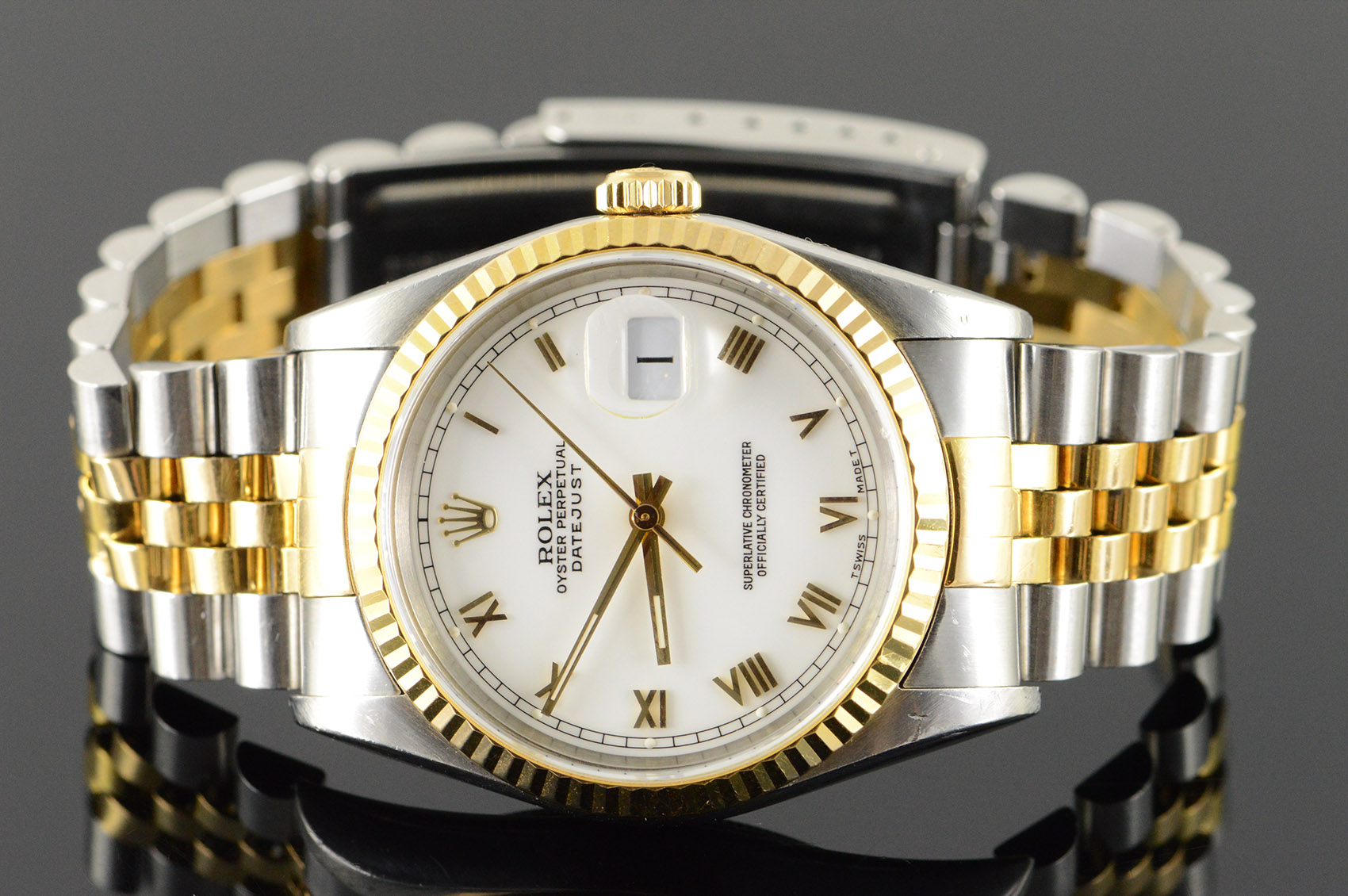 Men S Rolex Watch Date Just Roman Numeral Stainless Steel