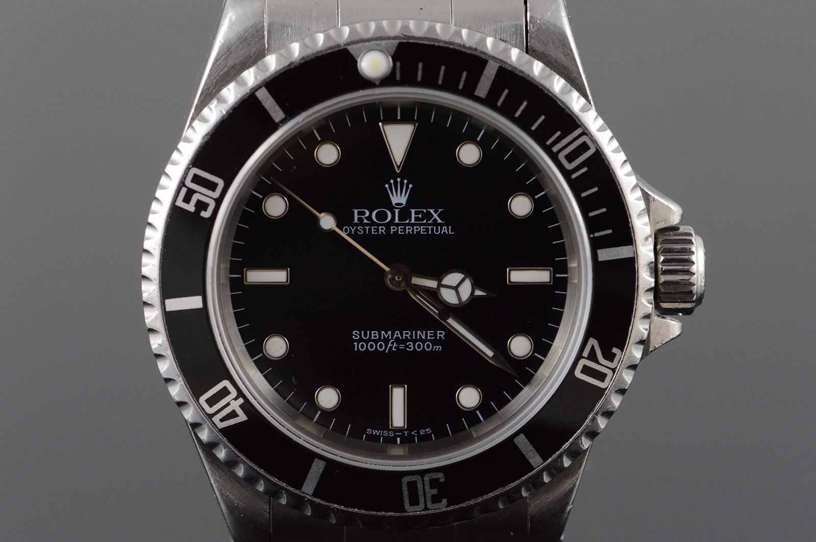 Rolex 38mm Submariner U Series 1997 Black Dial Bezel Automatic