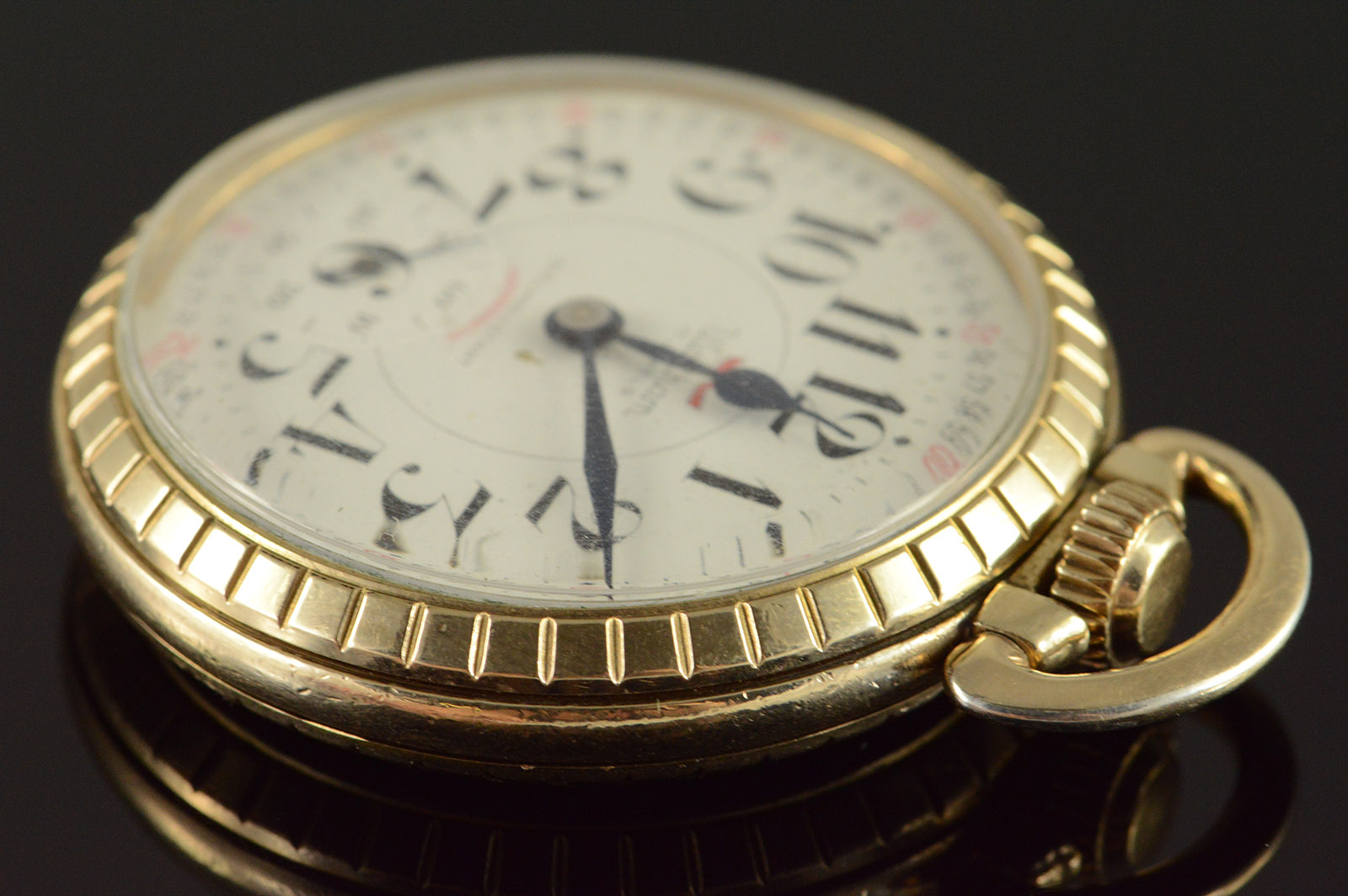 waltham 50mm case swiss movement 17 jewel 16s shock