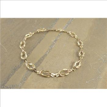 12 Gold Filled Two Tone Hamilton Knot Link Ornate Chain Necklace