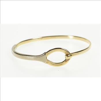 e012ed775 14K Tiffany & Co. Two Tone Loop Wrap Bangle Yellow Gold Bracelet ...