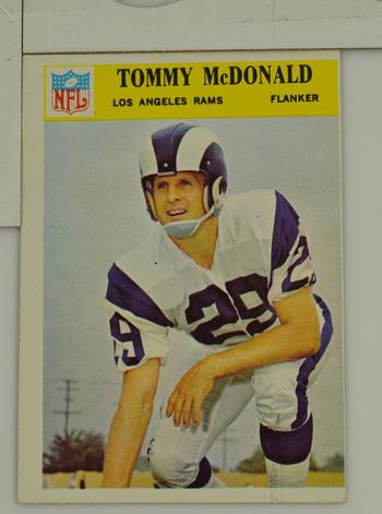cfe9dcf10f2 Image 1 of 2. 1966 Tommy McDonald L.A. Rams Philadelphia  97 Football Card