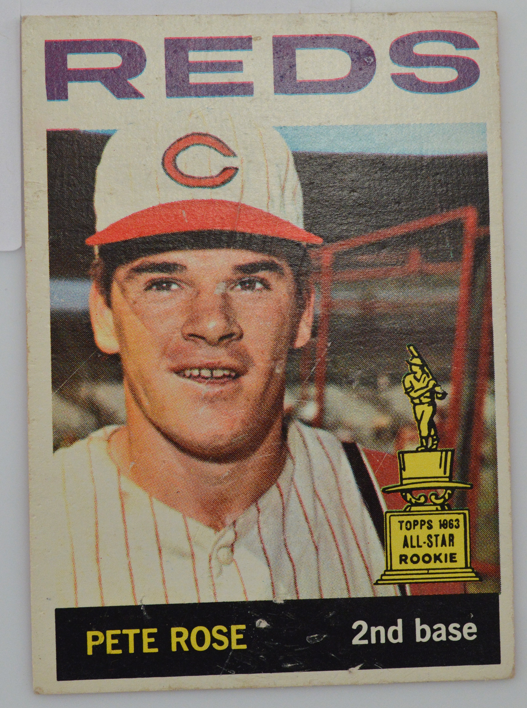 1963 Pete Rose Cincinnati Reds All Star Rookie Topps 125