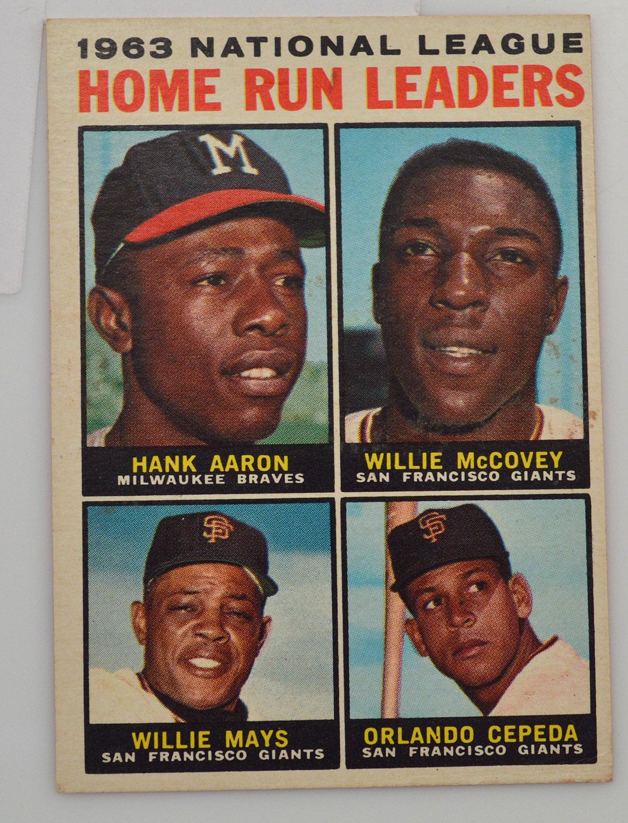 1964 63 National League Home Run Leaders Hank Aaron Willie