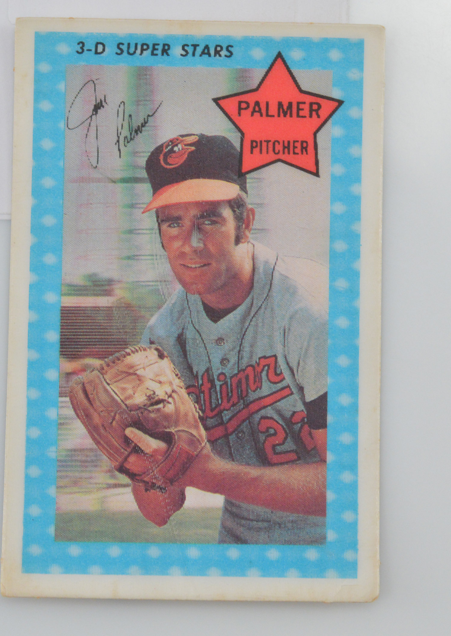 1971 Kelloggs 3 D Super Stars Baseball Card 60 James Palmer