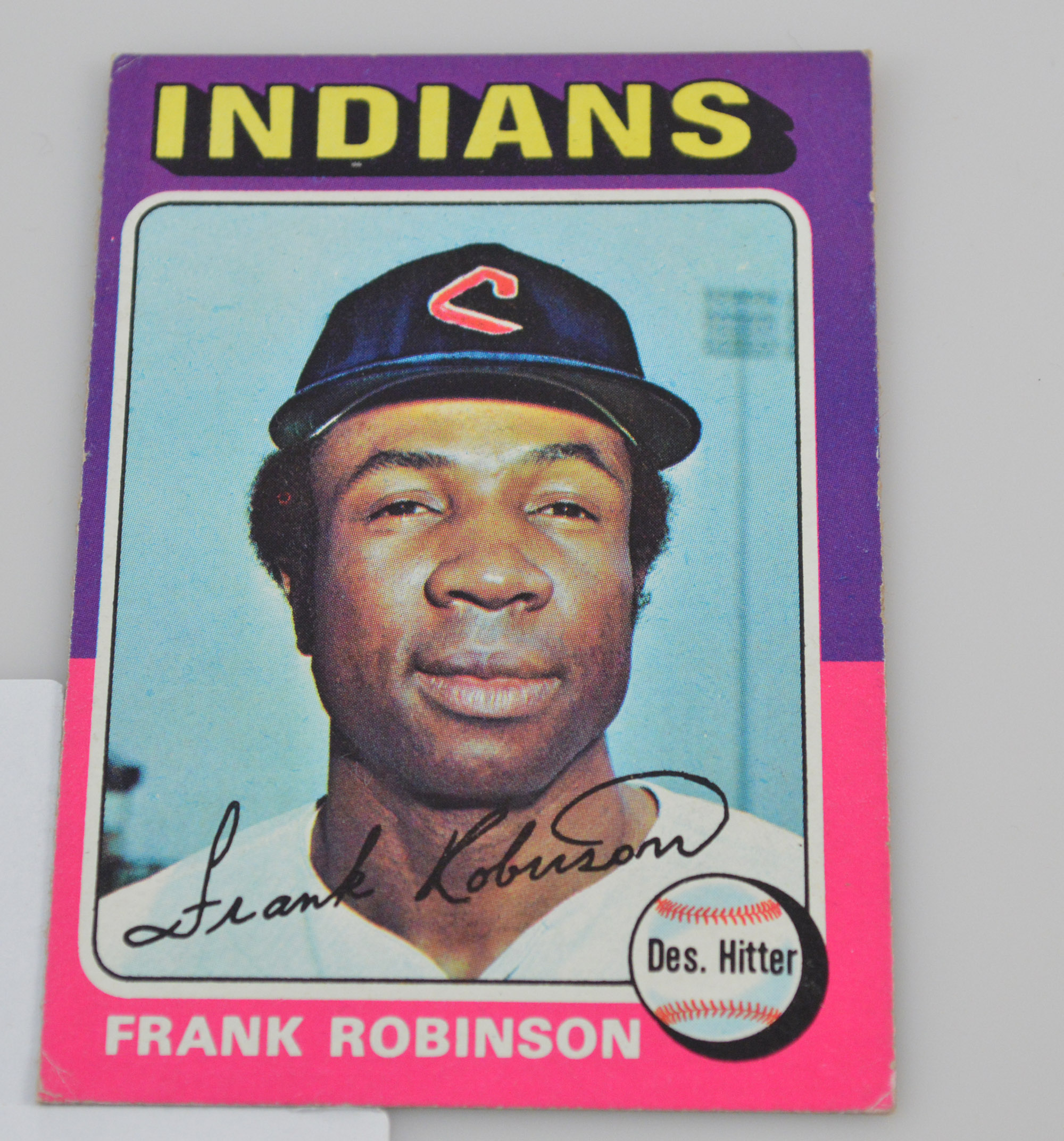 1975 Topps #580 Frank Robinson Very Good Indians