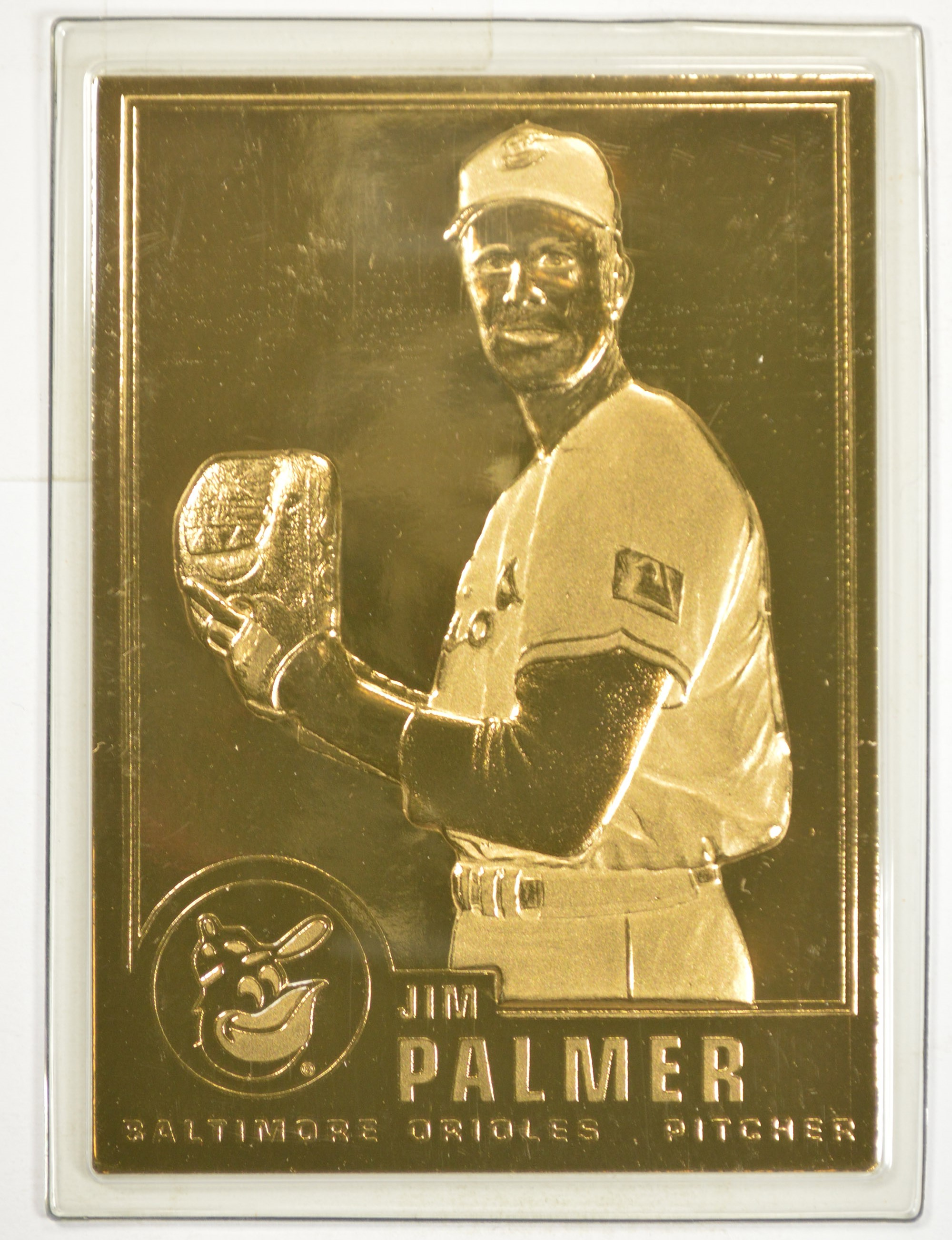 22k Gold Jim Palmer Limted Edition Danbury Mint Baseball