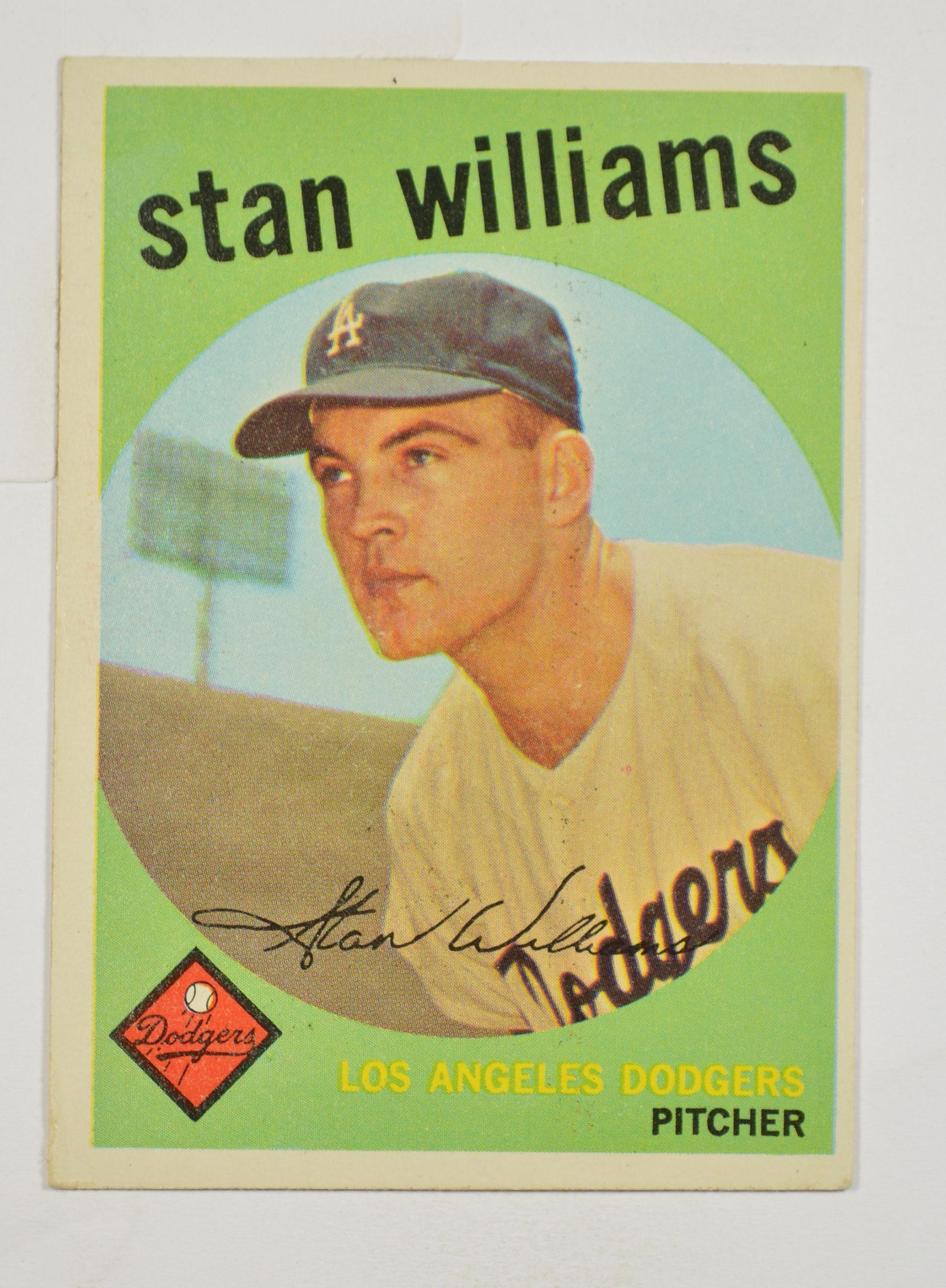 5 Sh 1959 Stan Williams La Dodgers Rookie Card Topps 53