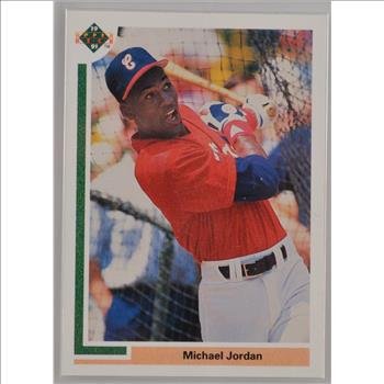 1991 Michael Jordan White Sox Baseball Card Upper Deck Sp1