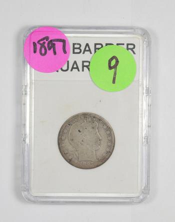 *** 1897 Barber Quarter - Slabbed