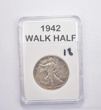 *** 1942 Walking Liberty Half Dollar - Slabbed