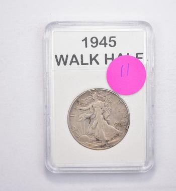 *** 1945 Walking Liberty Half Dollar - Slabbed