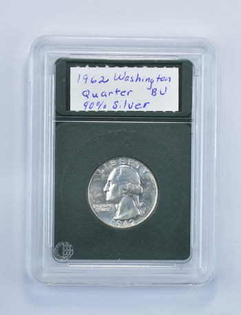 *** BU 1962-D Washington Quarter - 90% Silver - Fancy Display Holder