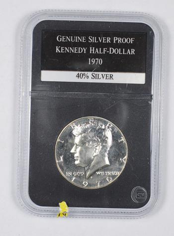 *** Genuine Silver Proof 1970 Kennedy Half Dollar - Slabbed PCS
